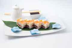 Oshi sushi with salmon Stock Photography