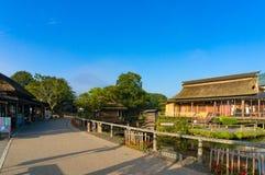 Oshino Hakkai farmhouses and pond of Mt. Fuji Five Lakes Stock Image