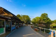Oshino Hakkai farmhouses and pond of Mt. Fuji Five Lakes Royalty Free Stock Photos