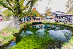 Oshino Hakkai, a small village in the Fuji Five Lake region. Royalty Free Stock Images