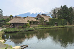 Oshino Hakkai a small village in the Fuji five lake region. Stock Photos