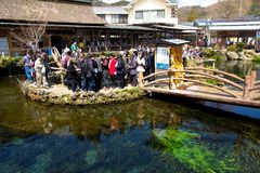 Oshino village is a small homestead at the base of Fuji Stock Image