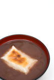 Oshiruko. Japanese sweet red-bean soup(remove bean skins) with Mochi(Rice cakes) named Oshiruko(or Shiruko Royalty Free Stock Images