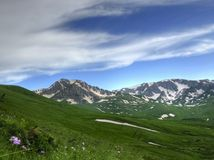 An Oshten mountain of Caucasus. A beautiful view to the Oshten mountain of Caucasus Stock Photography