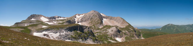 Oshten mountain landscape, view from the east Royalty Free Stock Images