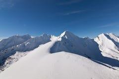 osiąga szczyt śnieżnego Obraz Stock