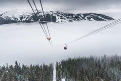 Osiąga szczyt osiągać szczyt wagon kolei linowej przy Whistler, Kanada Zdjęcia Stock