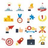 Osiągnięcie ikony ustawiać royalty ilustracja