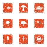 Osiągnięcie ikony ustawiać, grunge styl royalty ilustracja