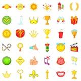 Osiągnięcie ikony ustawiać, kreskówka styl royalty ilustracja