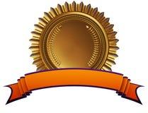 Osiągnięcie medal z faborkiem ilustracja wektor