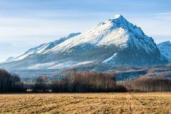 Osiąga szczyt nazwanego Slavkovsky stit w Wysokich Tatras górach, Sistani Obrazy Stock