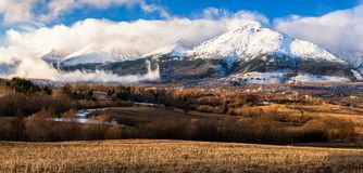 Osiąga szczyt nazwanego Slavkovsky stit w Wysokich Tatras górach, Sistani Obraz Royalty Free
