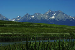 osiąga szczyt tatras widok Zdjęcie Royalty Free