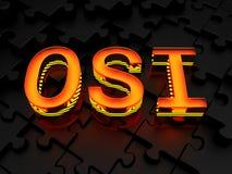 OSI - Otwartych systemów Interconnection model Obraz Stock