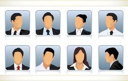 Osiem beztwarzowych głów biznesmeni Fotografia Stock