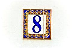 osiem domowych liczb Zdjęcie Stock