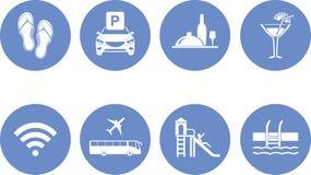 Osiem ikon dla projekta hotelowa strona internetowa Obraz Stock