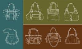 osiem kobiet torby ilustracji