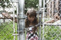 Osiem lat szkolna dziewczyna Zdjęcia Stock