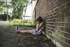 Osiem lat szkolna dziewczyna Fotografia Royalty Free