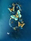 Osiem luksusowi motyle ilustracja wektor