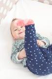 Osiem miesięcy starej dziewczynki Obraz Stock