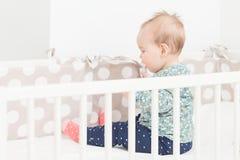 Osiem miesięcy starej dziewczynki Obrazy Royalty Free