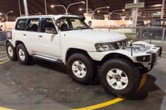 Osiem Nissan Patrol przy emiratu samochodu muzeum koło Fotografia Royalty Free