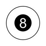 Osiem piłek odosobniona ikona ilustracja wektor
