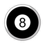 Osiem piłek odosobniona ikona royalty ilustracja