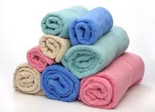 osiem ręczników piramid Zdjęcia Stock