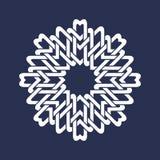 Osiem wskazywali kurenda wzór w orientale przecina linia styl Biały mandala w płatek śniegu formie royalty ilustracja