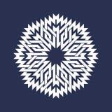 Osiem wskazywali kurenda wzór w orientale przecina linia styl Biały mandala w płatek śniegu formie ilustracji