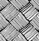 Osier de modèle noir et blanc Image stock