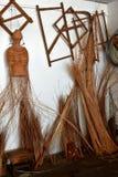 Osier gebundelde staken en riet royalty-vrije stock foto's