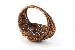 Osier woven baskets Royalty Free Stock Images