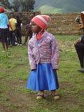 Osierocona dziewczyna w Kenja Fotografia Royalty Free