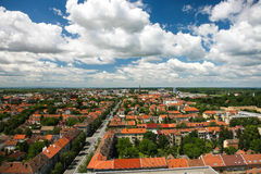 OSIJEK, CROATIA. Aerial view of beautiful cityscape of city Osijek, Slavonia - Croatia Stock Photo