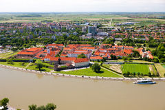 OSIJEK, CROATIA. Aerial view of beautiful cityscape of city Osijek, Slavonia - Croatia Stock Images
