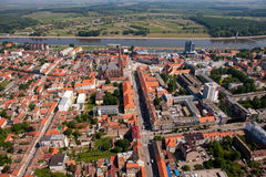 OSIJEK, CROATIA. Aerial view of beautiful cityscape of city Osijek, Slavonia - Croatia Stock Image
