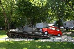 OSIJEK, CROATIA - May 14, 2013. Photo of an art installation in Osijek, Croatia Royalty Free Stock Photos