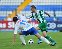 Osijek - Ferencvaros soccer game Stock Images