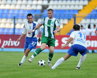Osijek - Ferencvaros soccer game Royalty Free Stock Photography