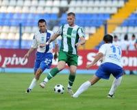 Osijek - Ferencvaros soccer game Royalty Free Stock Photography