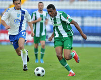 Osijek - Ferencvaros soccer game Royalty Free Stock Photos