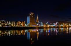 Osijek la nuit photo libre de droits