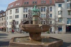 Osioł fontanna, Halle, Niemcy (Saale) Obraz Royalty Free