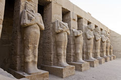 Osiride statues of ramesses III Royalty Free Stock Photos
