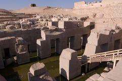 Osirion, Tempel van Abydos, Egypte royalty-vrije stock foto's